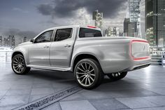 First outlook on the new Mercedes-Benz Concept X-CLASS pickup. With the Concept X-CLASS, Mercedes-Benz Vans gives a concrete outlook on its new pickup… Mercedes Benz Vans, New Mercedes, Nissan Navara, Mercedes Concept, 4x4, New Pickup Trucks, Diesel, Daimler Benz, Pickup Trucks