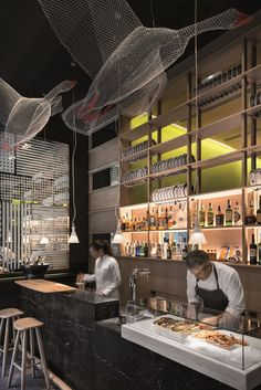 Petit Comitè, el nuevo restaurante de Nandu Jubany diseñado por lagranja. | diariodesign.com. Decoration black stone