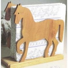 Woodworking How To Woodworker's Journal Prancing Pony Napkin Holder Plan Diy Wood Projects For Men, Wood Projects For Beginners, Woodworking Projects That Sell, Learn Woodworking, Woodworking Patterns, Popular Woodworking, Woodworking Furniture, Woodworking Crafts, Woodworking Plans