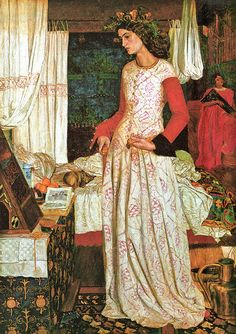 """Queen Guenevere"" (1858) William Morris"