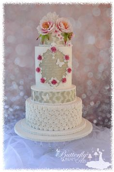 roses and Peony cake - Cake by Julie