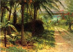 Albert Bierstadt Tropical Landscape painting is shipped worldwide,including stretched canvas and framed art.This Albert Bierstadt Tropical Landscape painting is available at custom size. Landscape Art, Landscape Paintings, Seascape Paintings, Landscapes, Albert Bierstadt Paintings, Hudson River School, Forest Painting, Tropical Landscaping, Oil Painting Reproductions