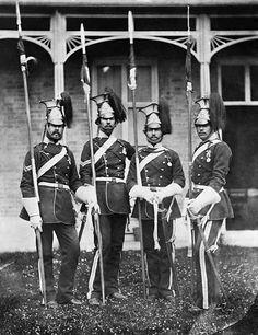 Men of the 17th Lancers during Crimean War 1854-56.