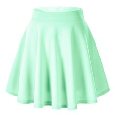 Women's Basic Solid Versatile Stretchy Flared Casual Mini Skater Skirt (Small, Mint) Urban CoCo http://www.amazon.com/dp/B015W82U2K/ref=cm_sw_r_pi_dp_W-.axb1YHDK6B