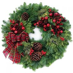 christmas wreaths | Country Christmas Wreath