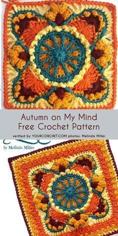 Transcendent Crochet a Solid Granny Square Ideas. Inconceivable Crochet a Solid Granny Square Ideas. Crochet Motifs, Crochet Blocks, Granny Square Crochet Pattern, Afghan Crochet Patterns, Crochet Squares, Crochet Granny, Free Crochet, Knitting Patterns, Granny Squares