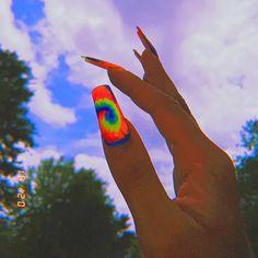 Bling Acrylic Nails, Simple Acrylic Nails, Best Acrylic Nails, Edgy Nails, Stylish Nails, Swag Nails, Tie Dye Nails, Acylic Nails, Nagellack Design