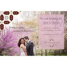 Hey UK Brides! Guess what?! I'm now taking wedding bookings for all locations across the UK! Contact me for more information and a copy of my wedding e-brochure! I'd LOVE to photograph your day! <3