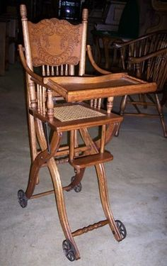 antique high chairs thonet for sale 20 best victorian images oak highchair love chair rocking nursery