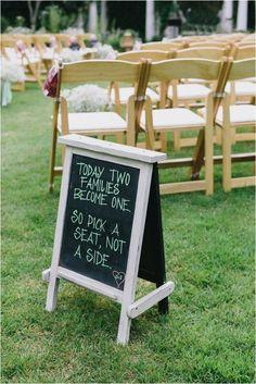 blackboard wedding signs, hand painted wedding idea, summer wedding decor #2014 Valentines Day www.dreamyweddingideas.com