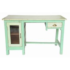 This is where I want to write for the rest of my life.  Writing Table Teal by Karma Living. via fab.com