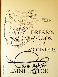Well, I know how I'll be spending my next few evenings! Dreams of Gods and Monsters, Laini Taylor