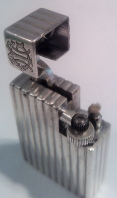 Solid Silver Cartier Lighter Great Condition 100 Working 1940s | eBay