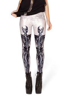 Skinny Human Skeleton Printed Clip Leggings,Cheap in Wendybox.com