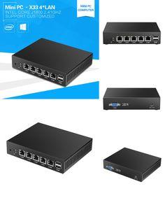 [Visit to Buy] 4*Ethernet RJ-45 Lan Ports Mini PC Celeron J1800 Dual Cores 2.41Ghz Pfsense Firewall Router Network Security Desktop Windows 10 #Advertisement
