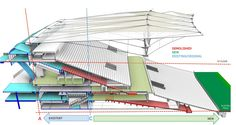 Section through the 2014 World Cup Final Stage Stadium in Rio de Janeiro, Brazil by Fernandes Arquitetos Associados