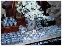 Blue Baptism decorations idea