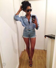 6c4045672ed52 Ideias Para Trajes, Roupas, Moda Jeans, Moda Mulhere, Roupas Para Férias,
