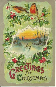 1910 Greetings for Christmas Antique by GrammysCozyCottage on Etsy, $3.00