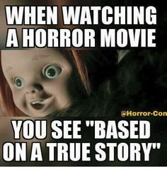 halloween art – 10 Horror Movie Memes Perfect For Halloween Creepiest Horror Movies, Horror Movies Funny, Horror Movie Characters, Scary Movies, Horror Stories, Terror Movies, Scary Meme, Funny Movie Memes, Creepy Quotes
