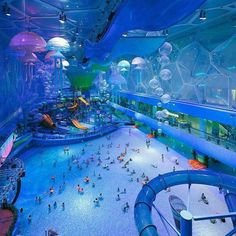 Beijing's water cube was originally built for the 2008 Olympics and has since been turned into a water theme park!