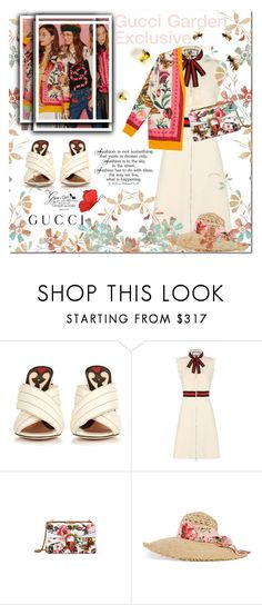 """""""Presenting the Gucci Garden Exclusive Collection: Contest Entry"""" by terrelynthomas ❤ liked on Polyvore featuring Gucci, Chanel and gucci"""