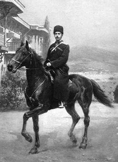 Tsar Nicholas ll of Russia on horseback.A♥W