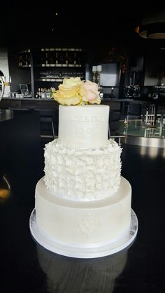 White flower wedding cake by Inge's Cup&Cake Factory
