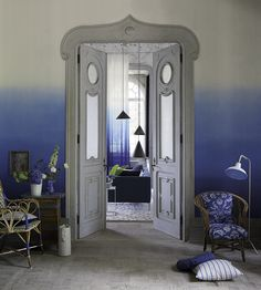 Interior Trends, Obsessed With Ombre | Saraille Wallpaper by Designers Guild | Jane Clayton