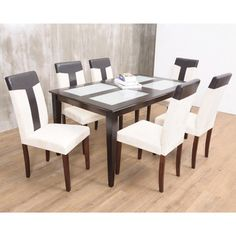 Warehouse of TIffany's 7-piece Brown Bark Dining Set | Overstock.com Shopping - Big Discounts on Warehouse of Tiffany Dining Sets