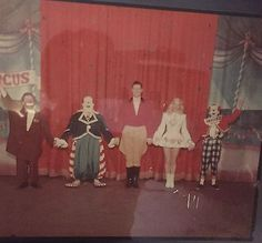 Original Full Color Super Circus Photo, Mary Hartline, Claude Kirchner & Clowns