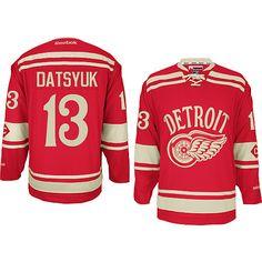 2014 Detroit Red Wings 13 Pavel Datsyuk Winter Classic Premier Jersey