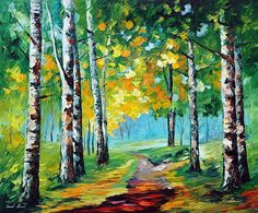 BIRCH GROVE - Oil painting by Leonid Afremov. One day offer - $99 include shipping https://afremov.com/BIRCH-GROVE-PALETTE-KNIFE-Oil-Painting-On-Canvas-By-Leonid-Afremov-Size-24-x30-60cm-x-75cmoffer.html?bid=1&partner=20921&utm_medium=/offer&utm_campaign=v-ADD-YOUR&utm_source=s-offer