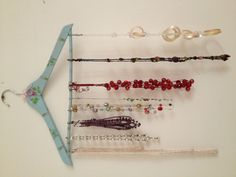 Jewellery display on a clothes hanger!