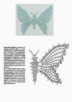 5 x Handmade 3D crochet Papillons Appliqué En Lilas Et Blanc