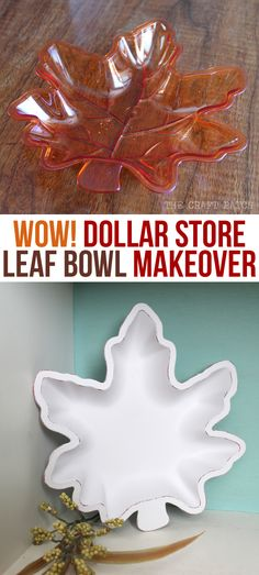Wow! This dollar store find got a serious makeover! Awesome, cheap fall decor!
