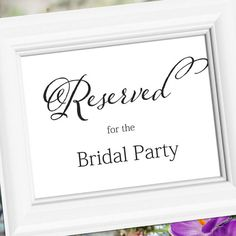 Wedding Sign Signage Decoration  Reserved for by weddingfusion, $5.00