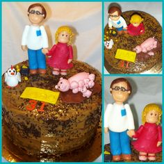 Father and daughter Cake