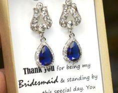 marineblauw saffier blauw bruiloft sieraden door TheMagnoliaJewelry