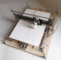 X-Y Plotter: Update - Have added a step to cover adding a cutting tool.Hi,Thank you for taking the time to check out my instructable for an Arduino based X-Y plotter. Arduino Cnc, Routeur Cnc, Diy Cnc Router, Shield Arduino, Cnc Woodworking, Arduino Programming, Linux, Diy Laser Cutter, Xy Plotter
