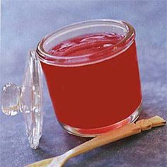 This recipe can be prepared in 45 minutes or less.This jelly is a delicious alternative to the traditional mint jelly served as an accompaniment to roasted meats such as lamb or turkey.