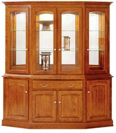 Furniture with a Lifetime Guarantee is yours with the Manchester Four Door Canted Hutch. This transitional style Amish furniture fits both a contemporary or tra Amish Furniture, Solid Wood Furniture, Woodworking Furniture, Dining Furniture, Woodworking Plans, Old Mansions Interior, Crockery Cabinet, Chair Design Wooden, Living Room Furniture Arrangement