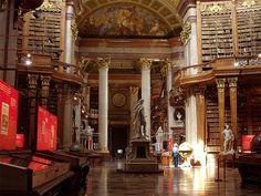 Österreichische Nationalbibliothek in Vienna, Austria