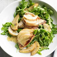Turkey, Pear, and Cheese Salad