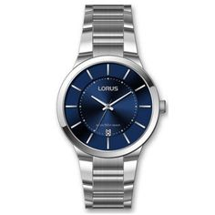 Lorus Men's slimline blue dial dress watch- at Debenhams.com