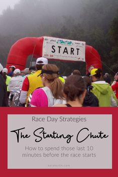 It's the 10 minutes of race day that seem to go on forever - standing around in the starting chute waiting for the gun to go off. On the blog - 7 ways to (productively) spend those last 10-15 minutes in the starting chute. Half Marathon Tips, Half Marathon Motivation, Half Marathon Training Plan, Running Motivation, Running Inspiration, Just Run, Running Tips, What To Pack, Race Day