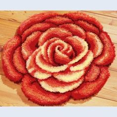 Latch Hook Rug Kits Big Red Peony DIY Needlework Unfinished Crocheting Rug Yarn Cushion Mat Home Decor Embroidery Carpet Rug Diy Carpet, Rugs On Carpet, Beige Carpet, Carpets, Latch Hook Rug Kits, Embroidery Store, Rug Yarn, Red Peonies, Yarn Thread