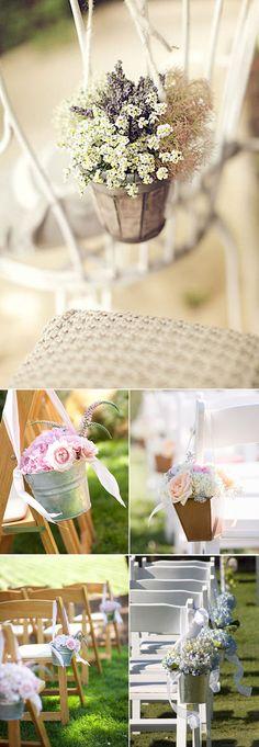 Ideas para decorar los pasillos de la ceremonia en tu boda