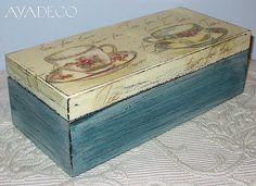 Caja de té azul