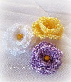 Watch The Video Splendid Crochet a Puff Flower Ideas. Phenomenal Crochet a Puff Flower Ideas. Crochet Bows, Crochet Flower Patterns, Love Crochet, Crochet Motif, Crochet Yarn, Crochet Leaves, Beautiful Crochet, Knitted Flowers, Fabric Flowers